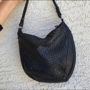 Black leather bag. Excellent condition.